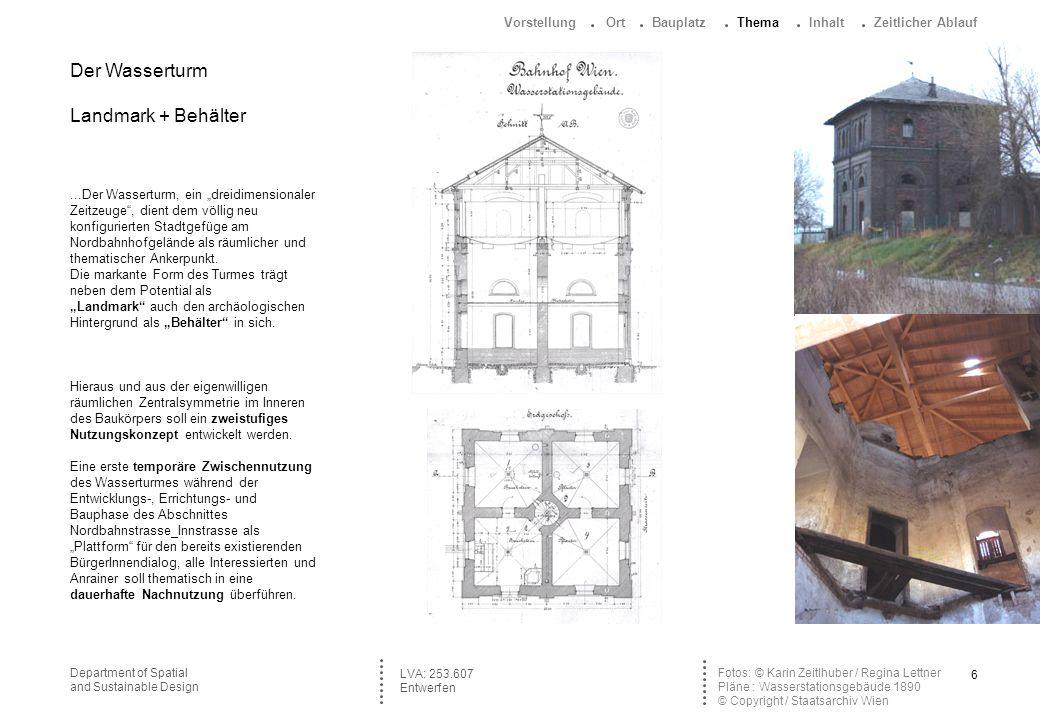 7Department of Spatial and Sustainable Design Foto : © Karin Zeitlhuber 2001 http://farm2.static.flickr.com/1151/1360556172_ 69449bce4b_m.jpg LVA: 253.607 Entwerfen Entwurfsmethode Mithilfe eines Workshops und einer Expedition in die zeitlichen, räumlichen, soziologischen und botanischen Schichtungen des Nordbahnhofgeländes soll ein städtebauliches Konzept, ein (Außen-/ Innenräumlicher) Entwurf und eine punktuelle, detailhafte Durchbildung erarbeitet werden.