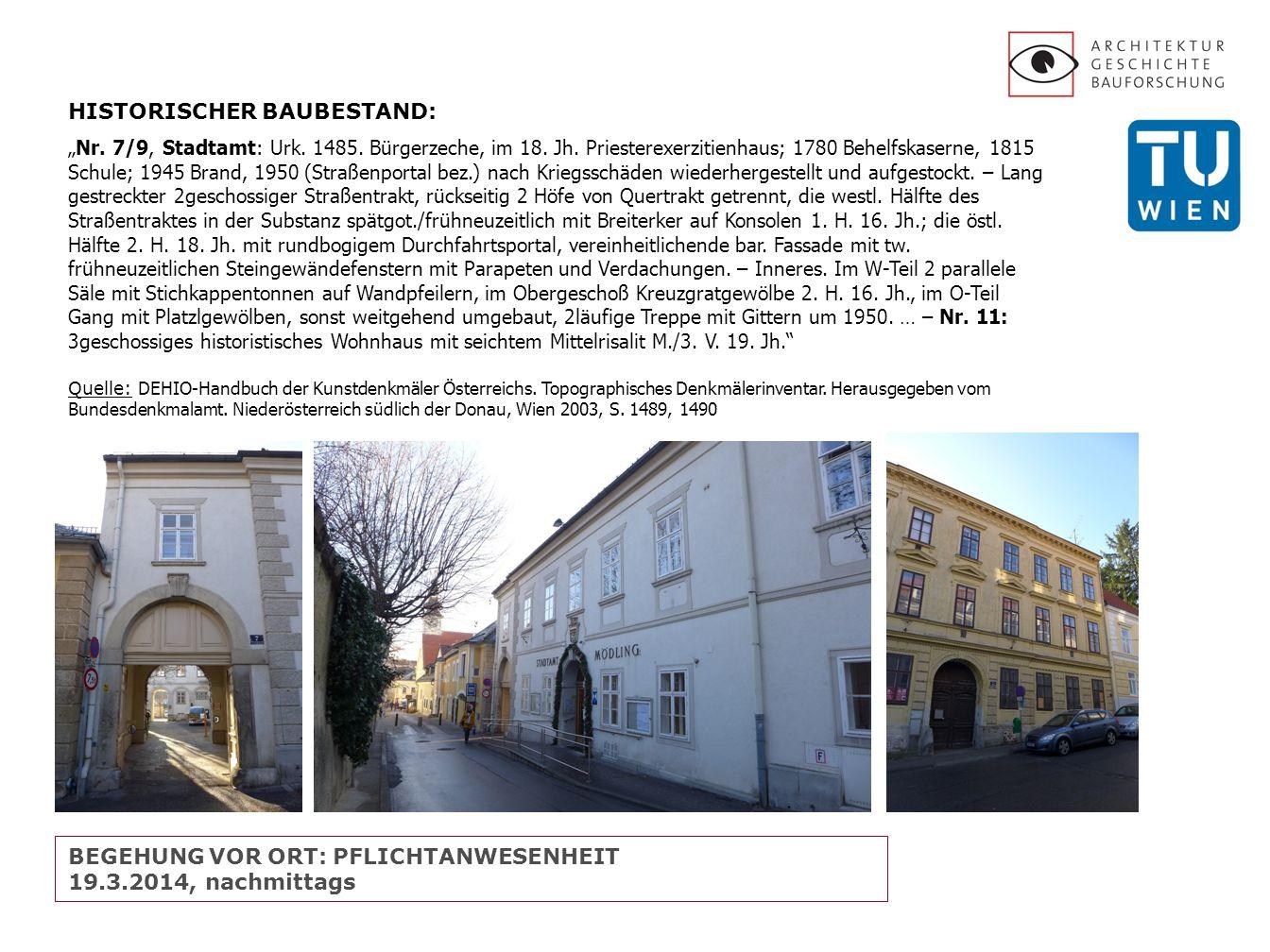 HISTORISCHER BAUBESTAND: Nr. 7/9, Stadtamt: Urk. 1485.