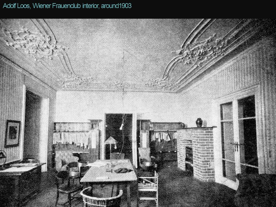 Adolf Loos, Wiener Frauenclub interior, around1903