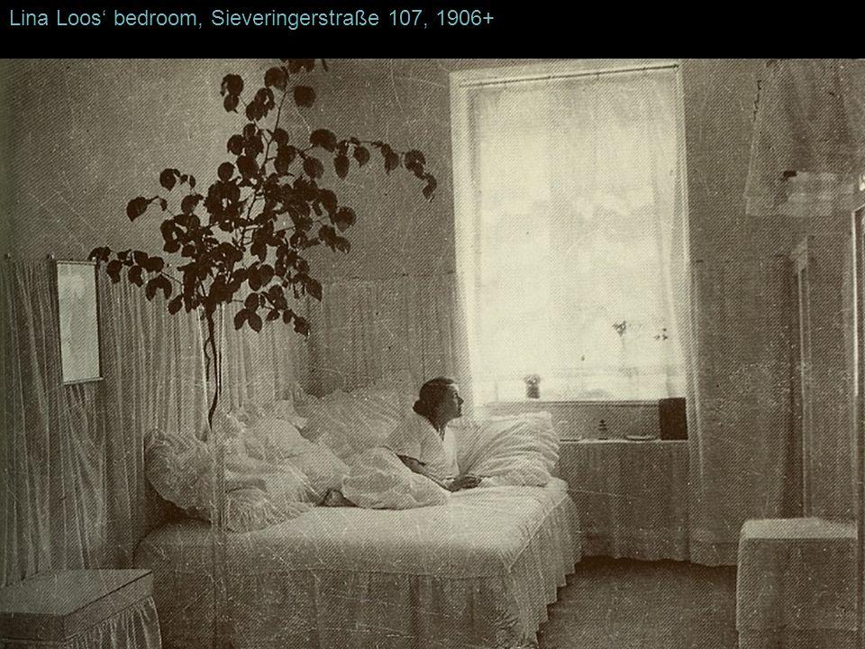 Lina Loos bedroom, Sieveringerstraße 107, 1906+
