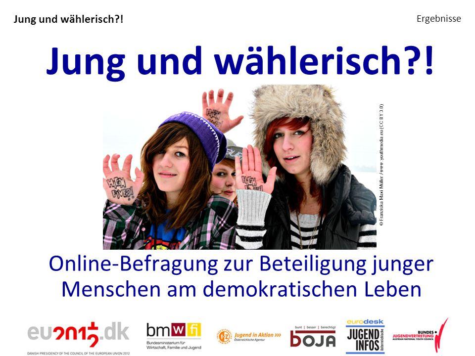 Jung und wählerisch?! Ergebnisse Jung und wählerisch?! Online-Befragung zur Beteiligung junger Menschen am demokratischen Leben © Franziska Maxi Mülle
