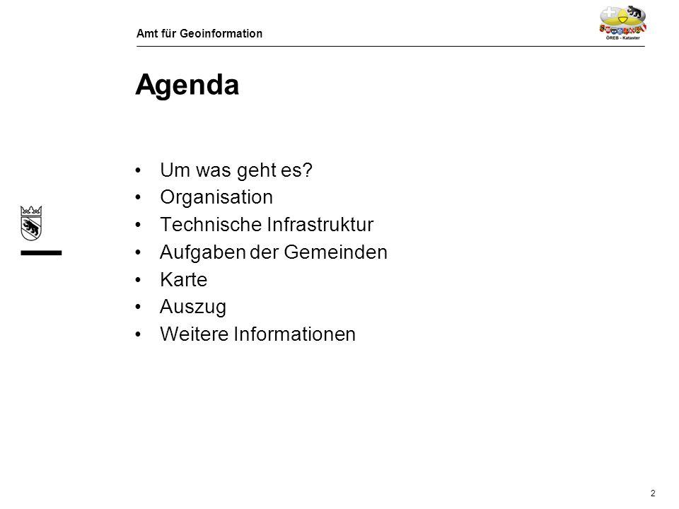 Amt für Geoinformation 3 Um was geht es? Grundbuch ÖREB - Kataster