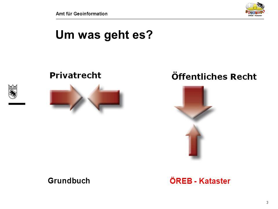 Amt für Geoinformation 4 Um was geht es? + Geometrie (Plan) Rechtsvorschrift