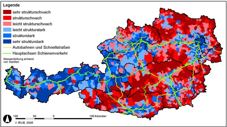 Powerdown Abschlussveranstaltung Wien, 14.12.2010 … in der Praxis (1) anhaltende Polarisierung in strukturschwache und -starke ländliche Räume