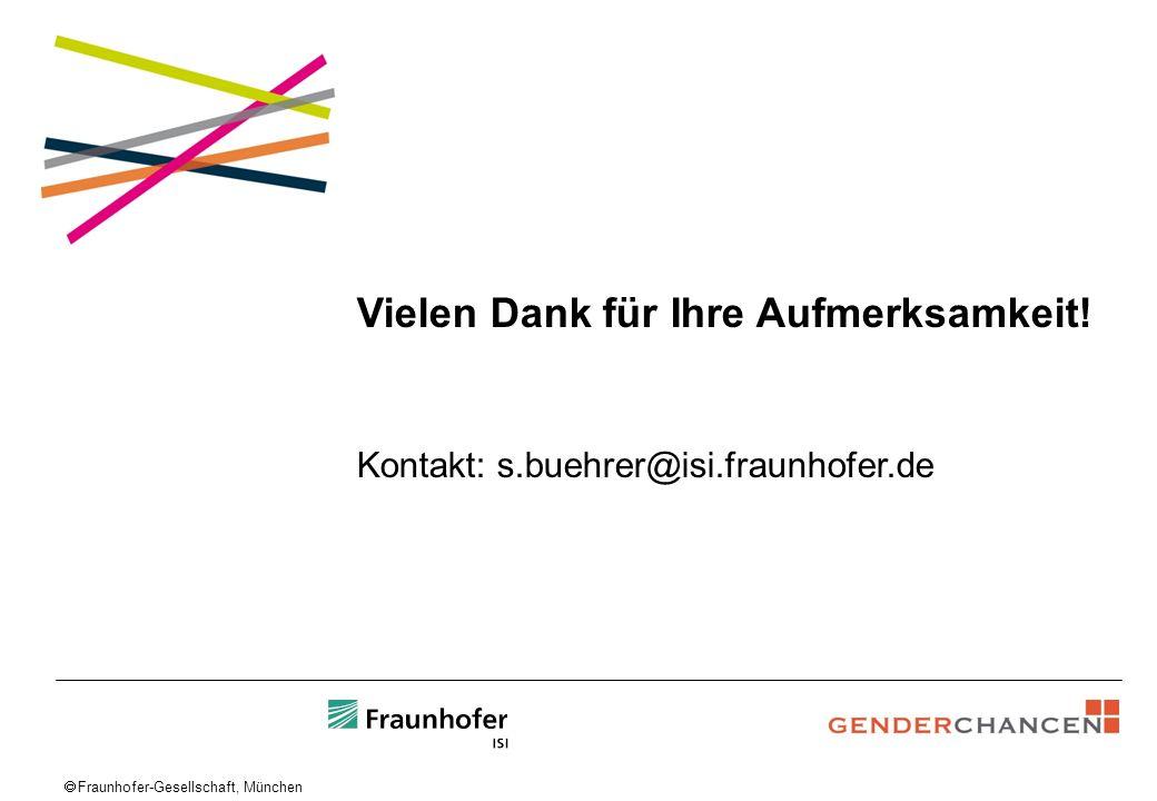 Fraunhofer-Gesellschaft, München Vielen Dank für Ihre Aufmerksamkeit! Kontakt: s.buehrer@isi.fraunhofer.de