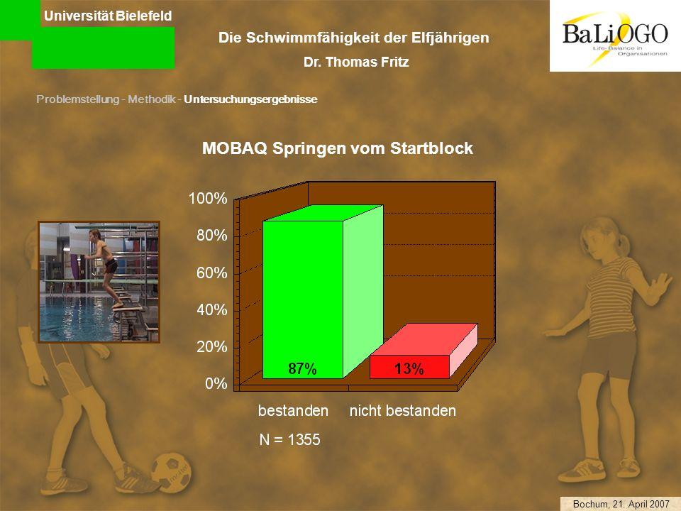 Universität Bielefeld Die Schwimmfähigkeit der Elfjährigen Dr.