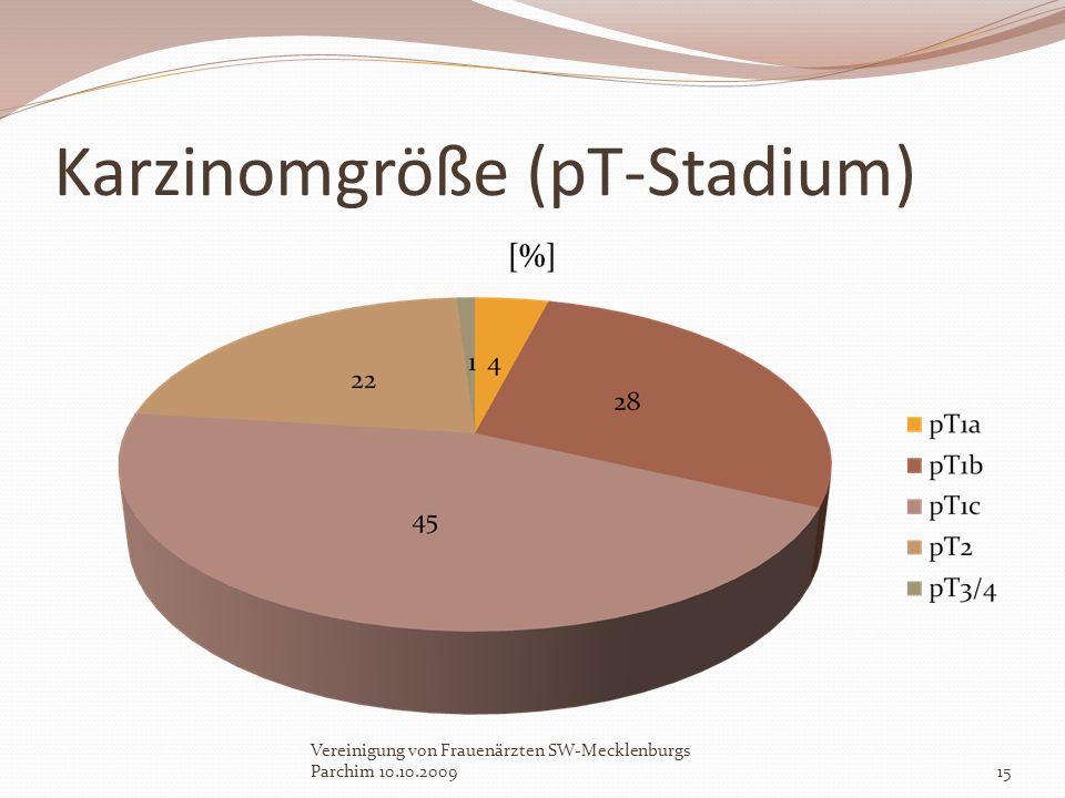 Karzinomgröße (pT-Stadium) Vereinigung von Frauenärzten SW-Mecklenburgs Parchim 10.10.200915