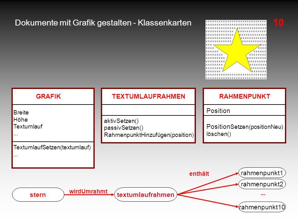 10 Dokumente mit Grafik gestalten - Klassenkarten rahmenpunkt1 stern wirdUmrahmt enthält textumlaufrahmen rahmenpunkt2 rahmenpunkt10 GRAFIK Breite Höh