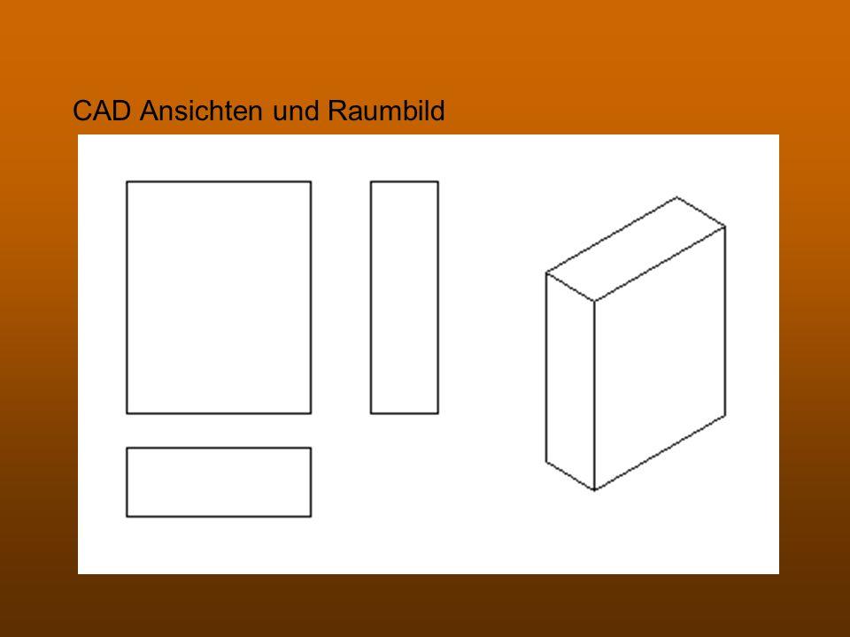 CAD Ansichten und Raumbild
