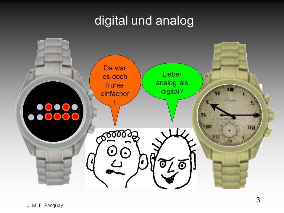 J. M. L. Pasquay 3 digital und analog Da war es doch früher einfacher ! Lieber analog als digital?
