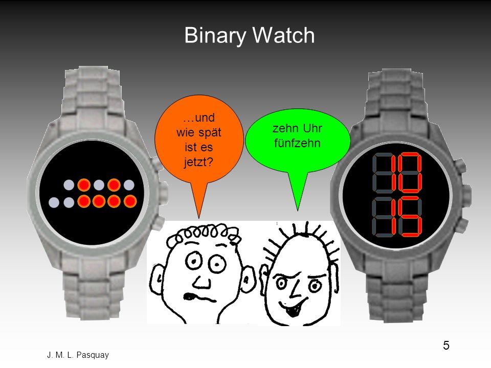 J. M. L. Pasquay 5 Binary Watch zehn Uhr fünfzehn …und wie spät ist es jetzt?