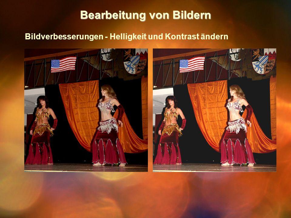 Bearbeitung von Bildern Bildverbesserungen - Helligkeit und Kontrast ändern