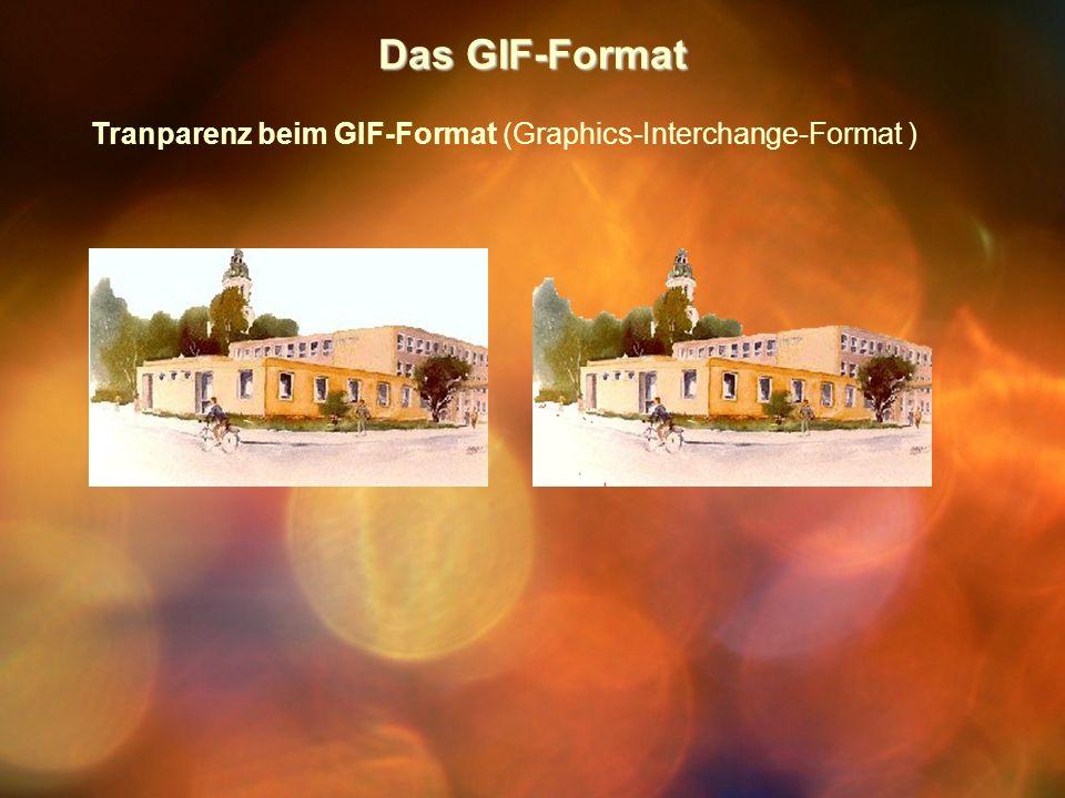 Das GIF-Format Tranparenz beim GIF-Format (Graphics-Interchange-Format )