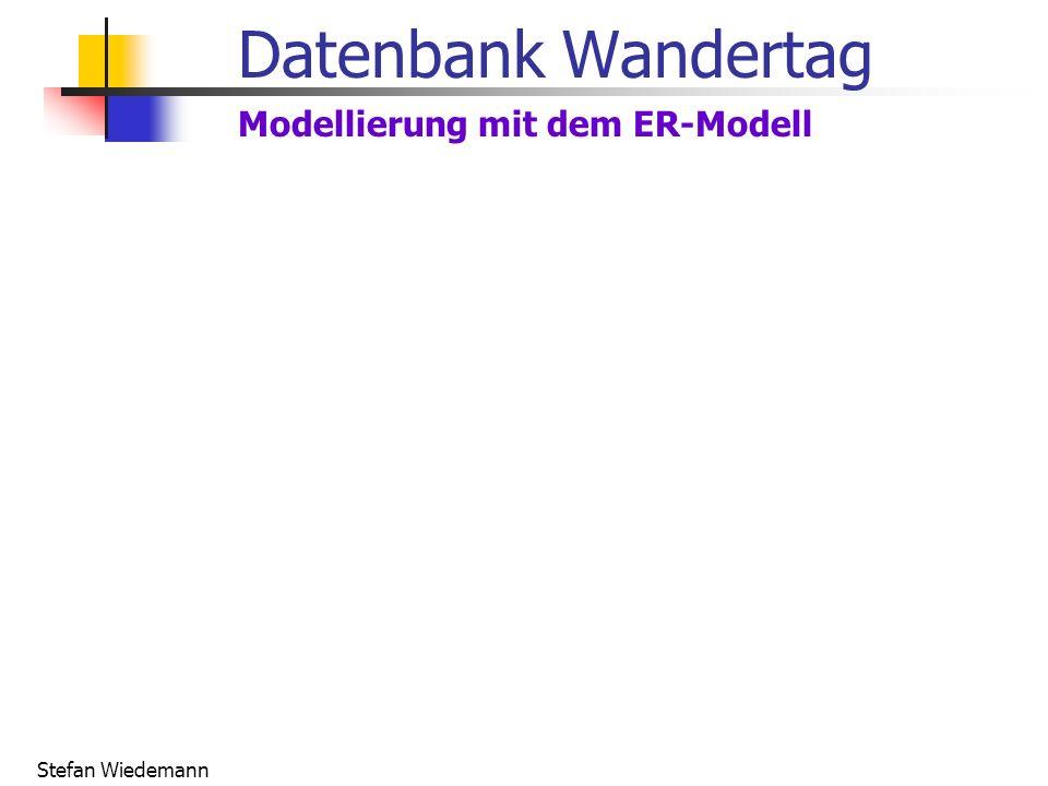 Stefan Wiedemann Datenbank Wandertag Modellierung mit dem ER-Modell
