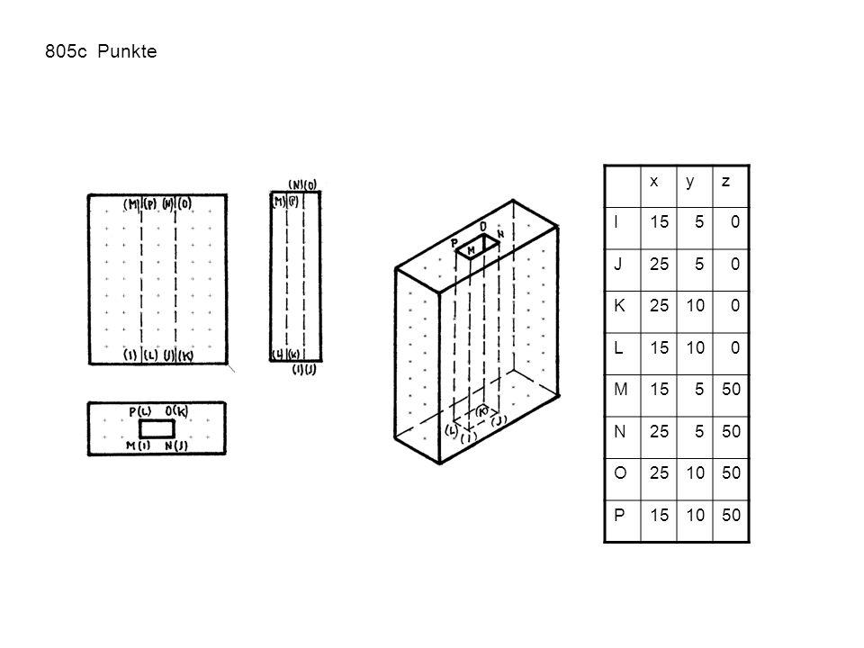 805c Punkte xyz I1550 J2550 K 100 L15100 M15550 N25550 O251050 P151050