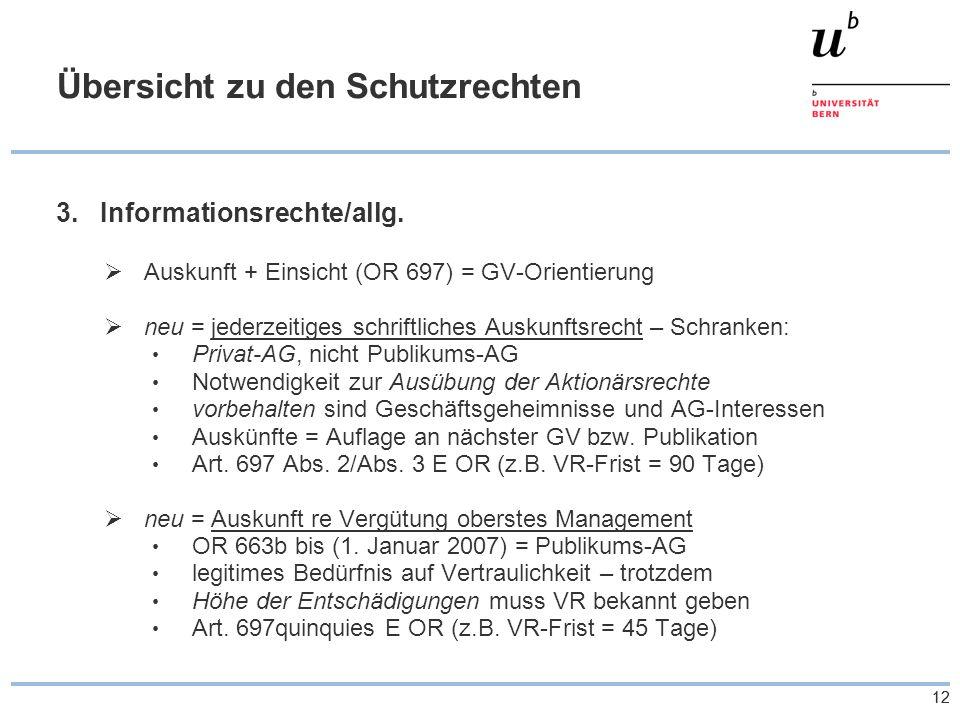 12 Übersicht zu den Schutzrechten 3.Informationsrechte/allg.