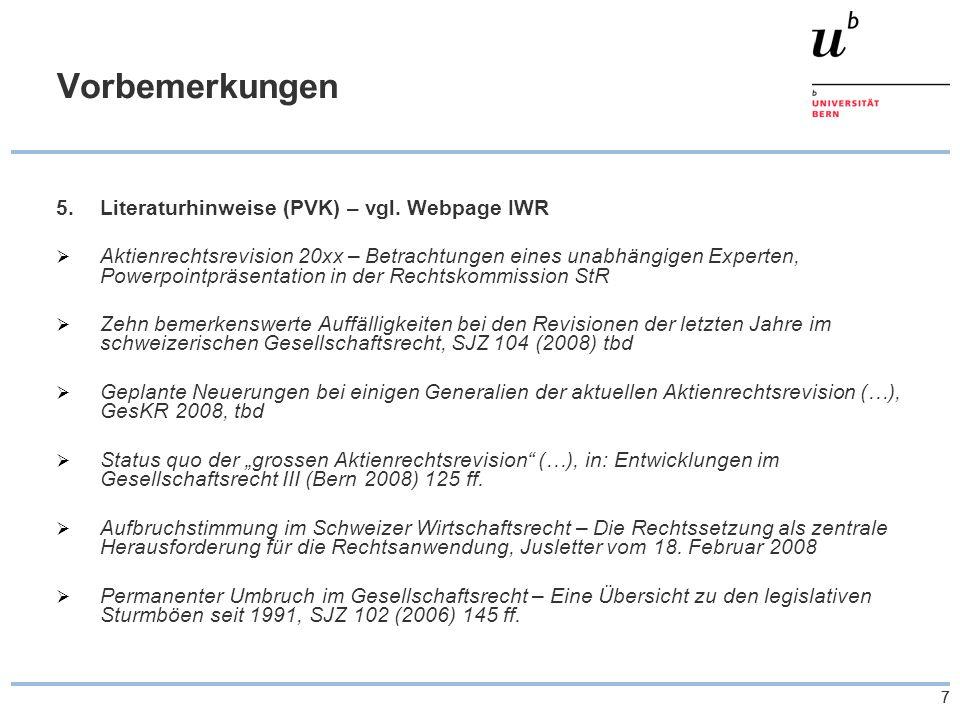77 Vorbemerkungen 5.Literaturhinweise (PVK) – vgl.