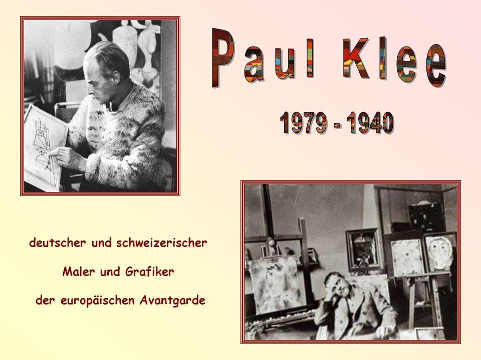 deutscher und schweizerischer Maler und Grafiker der europäischen Avantgarde