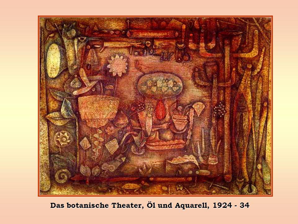 Das botanische Theater, Öl und Aquarell, 1924 - 34