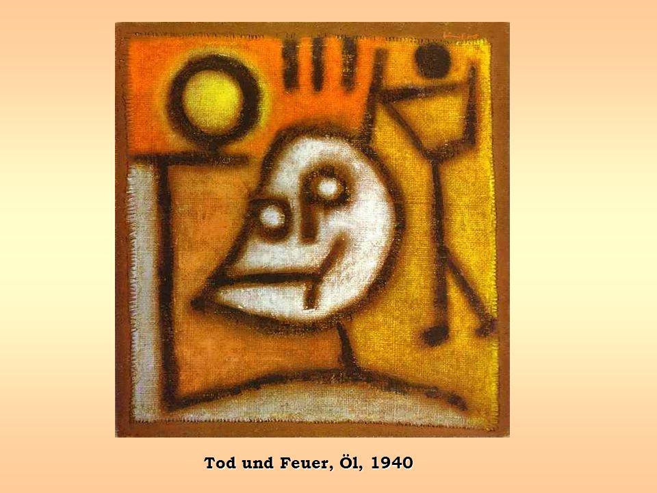 Tod und Feuer, Öl, 1940
