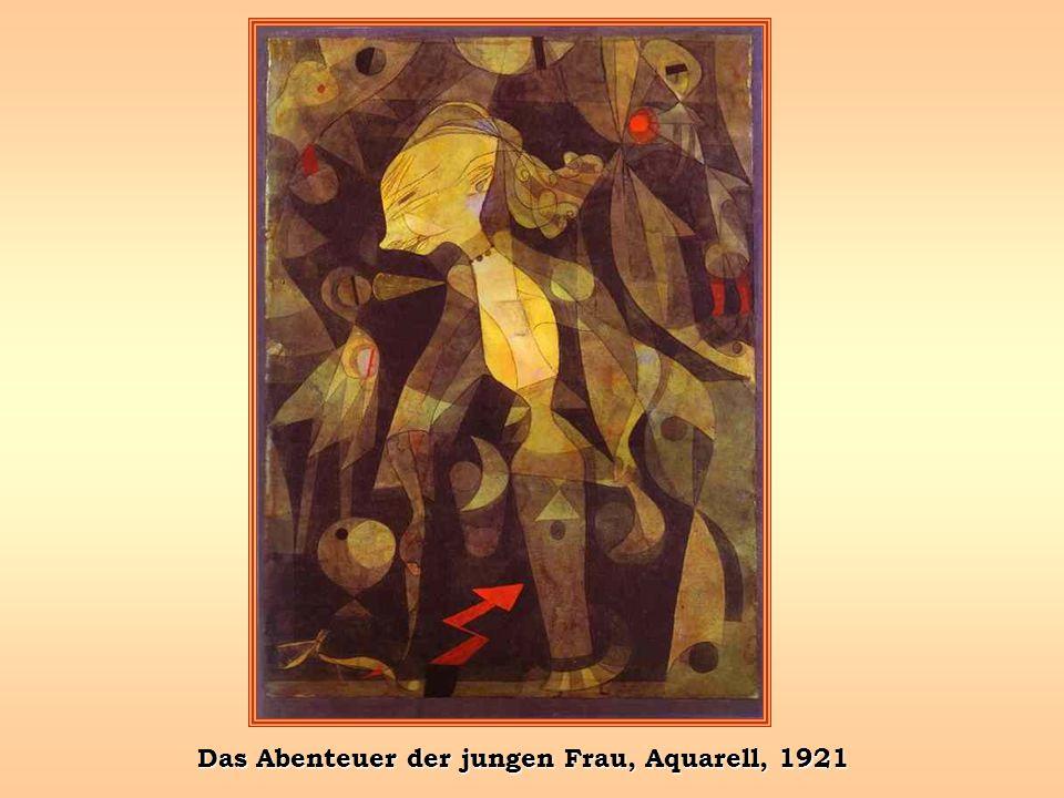 Das Abenteuer der jungen Frau, Aquarell, 1921