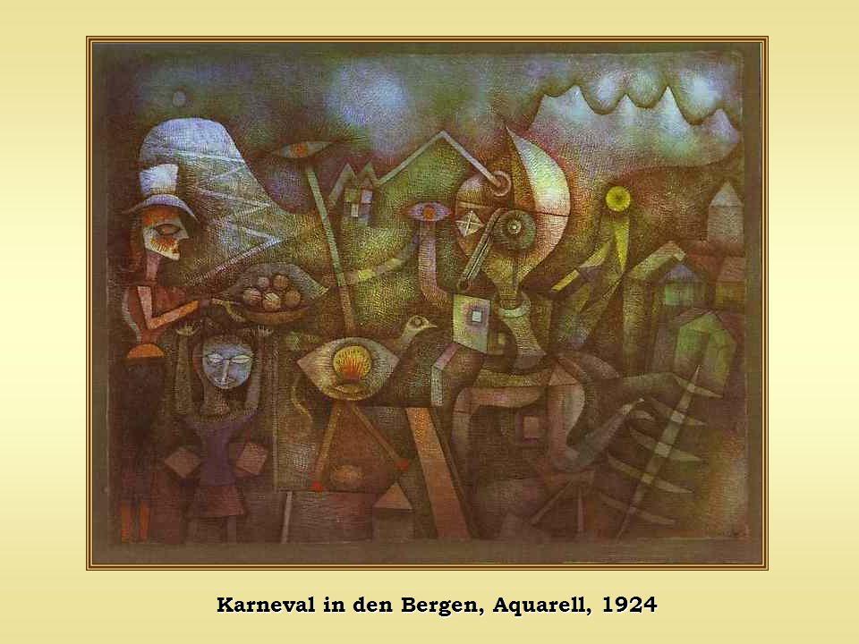 Karneval in den Bergen, Aquarell, 1924