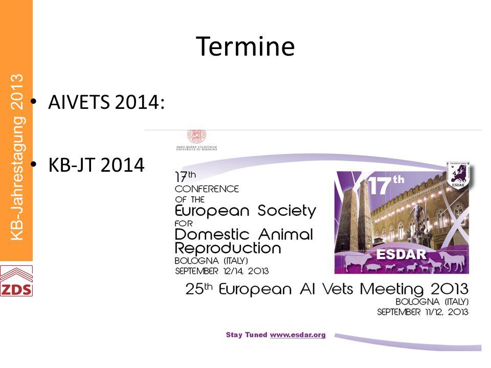 KB-Jahrestagung 2013 Termine AIVETS 2014: KB-JT 2014
