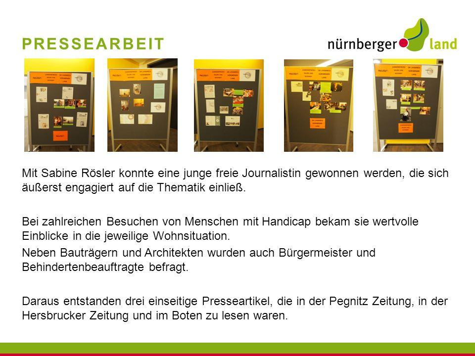 PRESSEARBEIT Mit Sabine Rösler konnte eine junge freie Journalistin gewonnen werden, die sich äußerst engagiert auf die Thematik einließ. Bei zahlreic