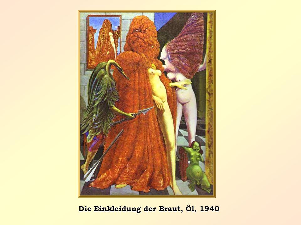 Die Einkleidung der Braut, Öl, 1940