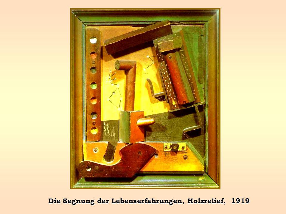 Die Segnung der Lebenserfahrungen, Holzrelief, 1919