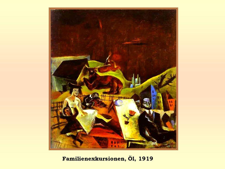 Familienexkursionen, Öl, 1919