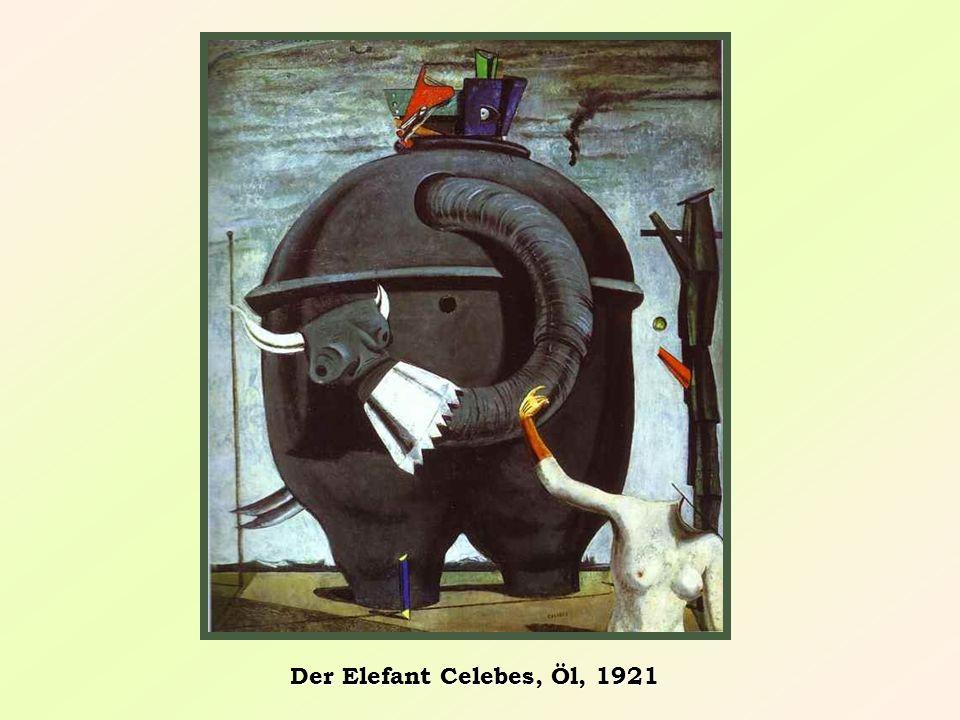 Eine Schnur oder Kordel wird in Farbe getaucht und auf der Leinwand abgedrückt Eine Liebesnacht, 1927