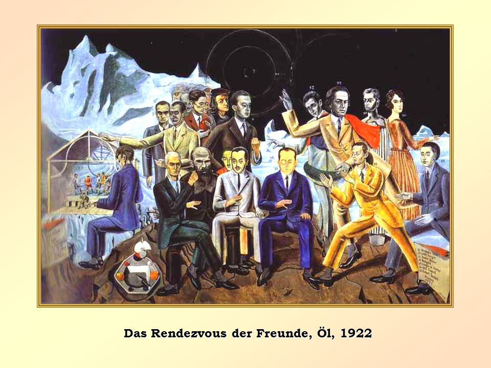 Das Rendezvous der Freunde, Öl, 1922