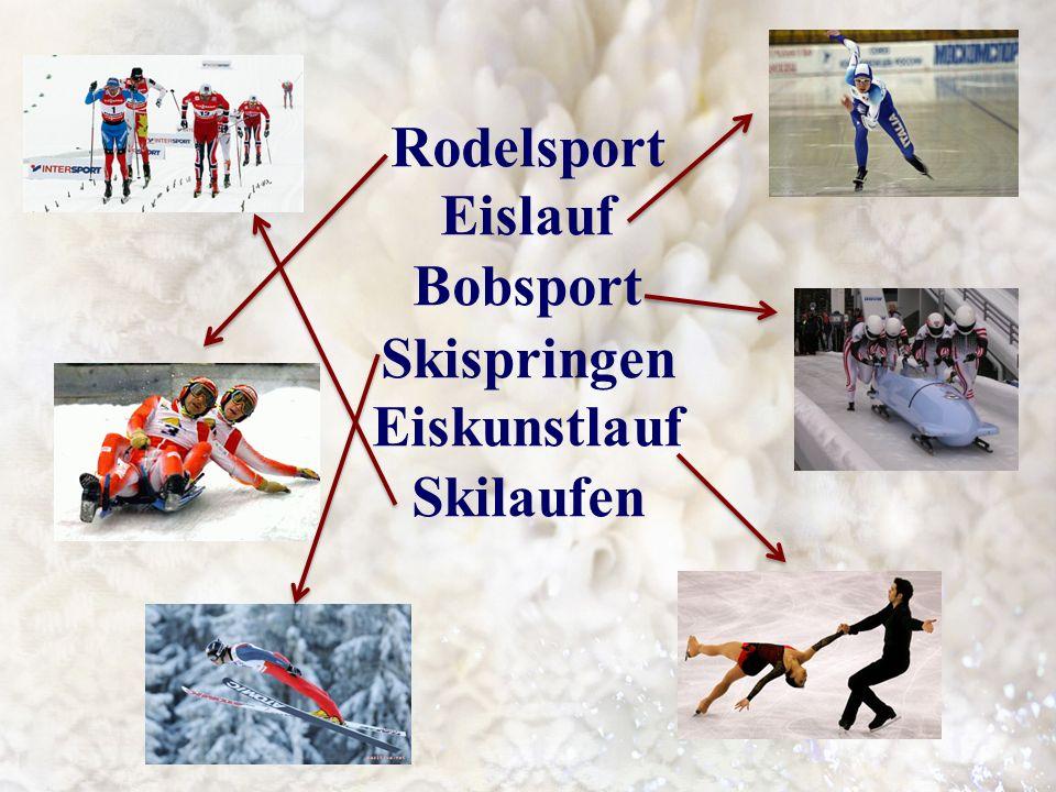 Rodelsport Eislauf Bobsport Skispringen Eiskunstlauf Skilaufen