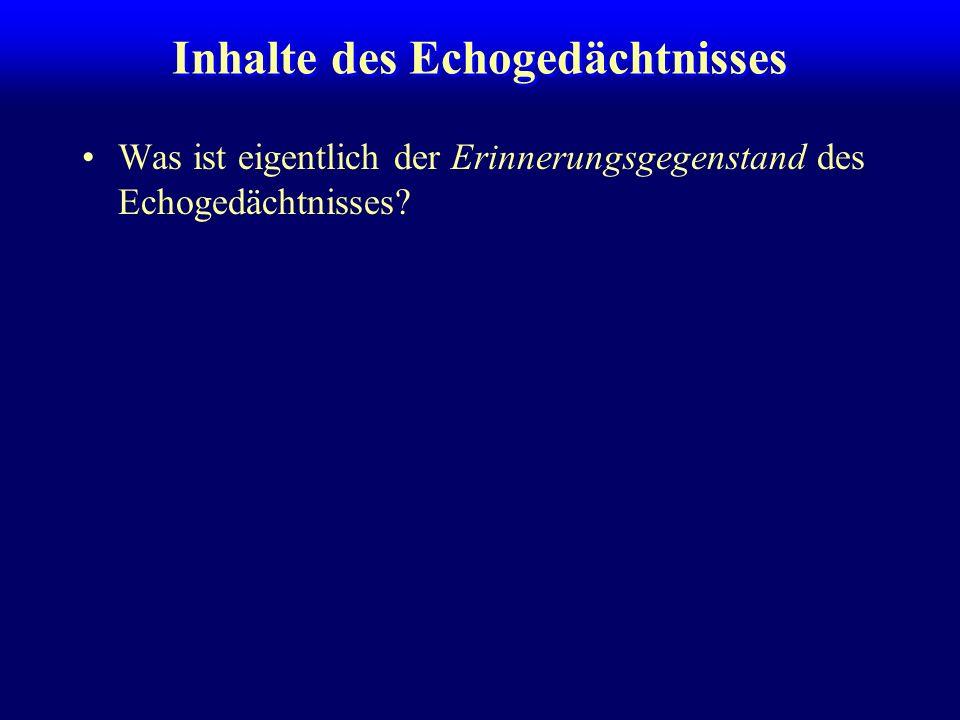 Interferenz im klassischen sensorischen Register:hoch –Averbach & Coriell (1961): Ikone überschreibbar im KZG (solange im Kapazitätslimit):niedrig im