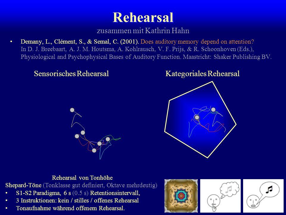 Echogedächtnis bei Tieren Katzen (Kooperation mit Peter König, Zürich) 1. März 2002:–Chala375 ms, 66 Sitzungen, 3178 EV –Merlin175 ms, 56 Sitzungen, 2