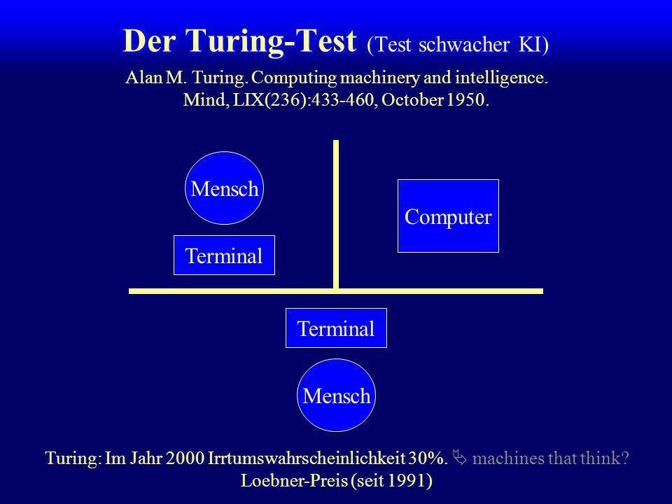 Argumente gegen schwache KI Computer befolgen nur das eingegebene Programm Sie können programmiert sein, zu lernen. Computer können nicht... lachen, l