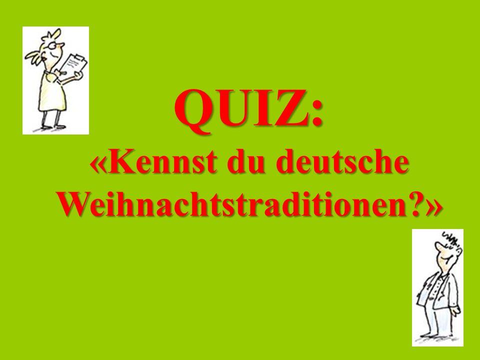 QUIZ: «Kennst du deutsche Weihnachtstraditionen?»