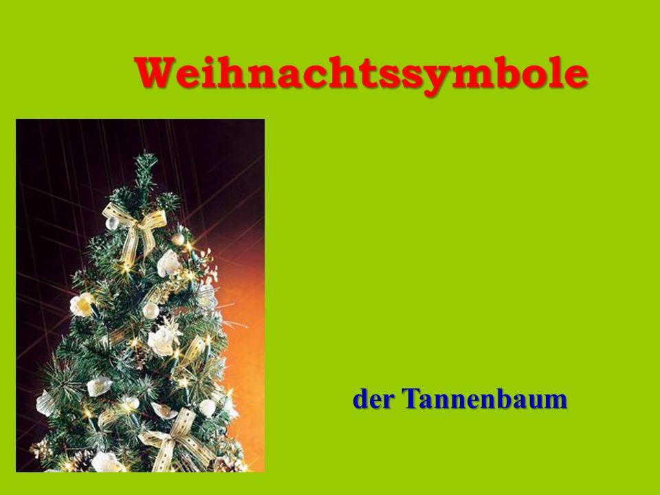 Weihnachtssymbole der Tannenbaum