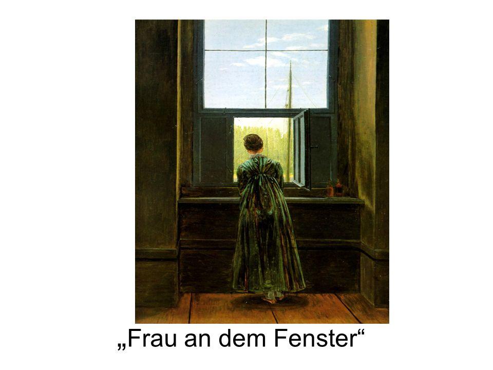 Frau an dem Fenster