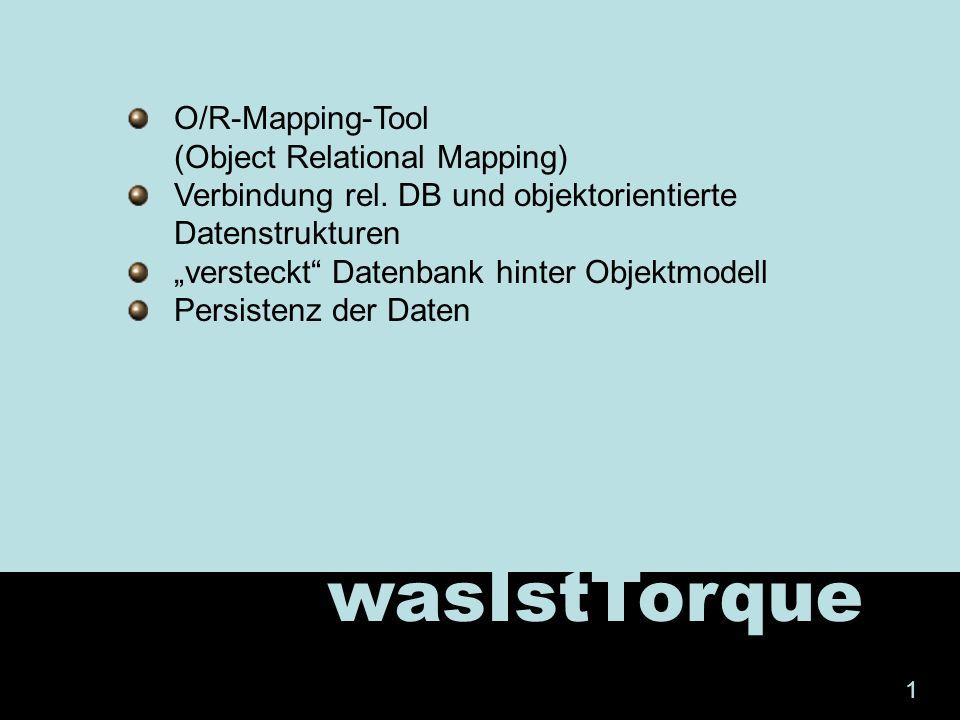 demo 12 Rdf überschreiben (Refresh!!) Log4j.properties + torque.properties überschreiben (C:\tdk- 2.2\webapps\newapp\WEB-INF\classes) torqueExample einfügen (Import – FileSystem) Log4j.properties nach Web-Inf/classes kopieren