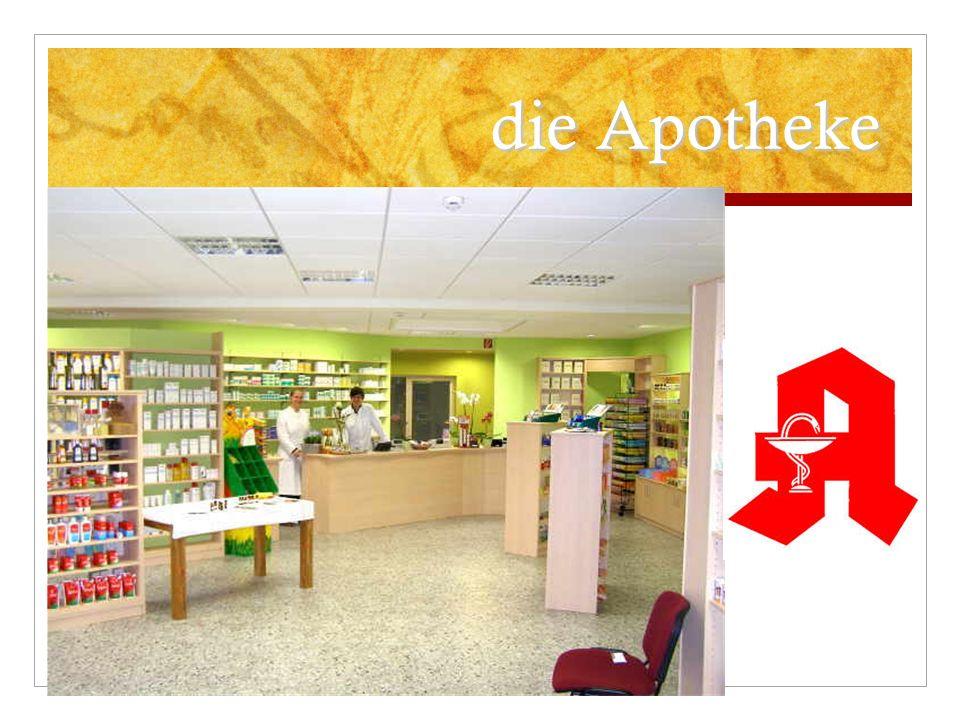 Die Bank ist in der Kirchstraße.Die Post ist neben der Bank.