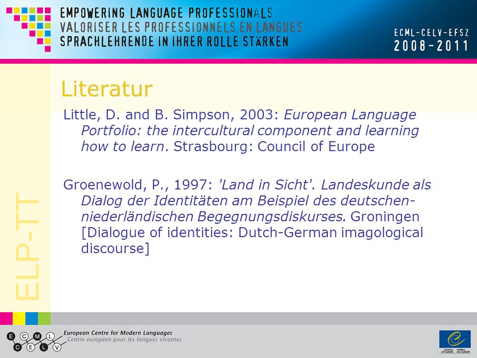 ELP-TT Literatur Little, D. and B.