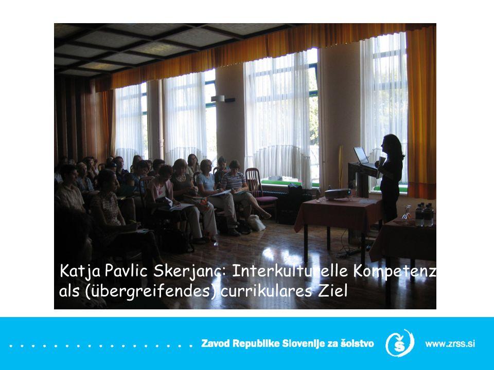 Die Gymnasiallehrerin Marjeta Sres. ihr Thema: ELP in der Unterrichtspraxis ( learning circles)