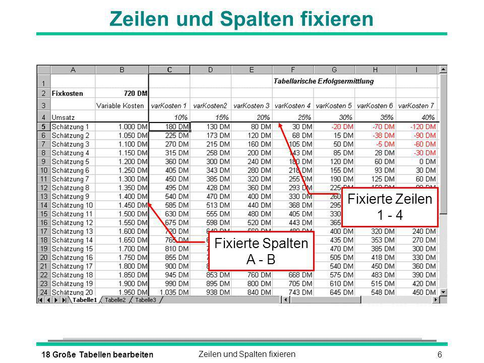 718 Große Tabellen bearbeitenTabellen(-teile) sortieren è DATEN - SORTIEREN oder è