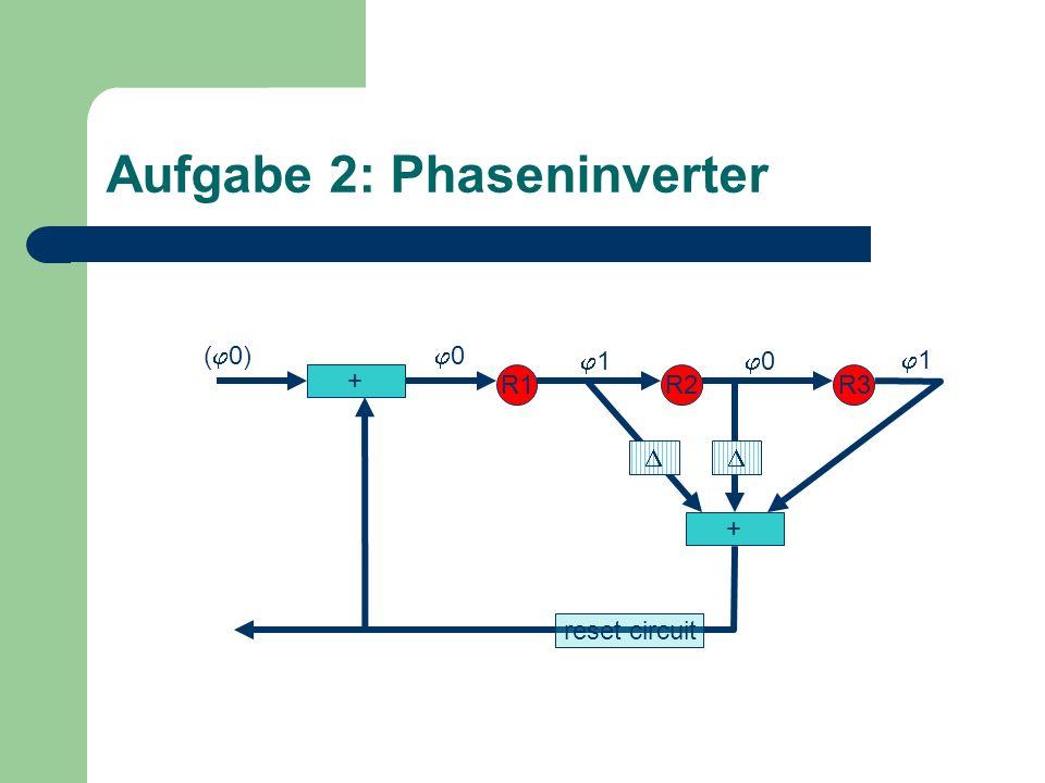 Aufgabe 2: Phaseninverter + R1R2R3 + 0 1 1 0( 0) reset circuit