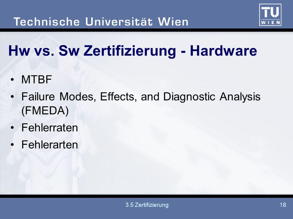 3.5 Zertifizierung18 Hw vs.