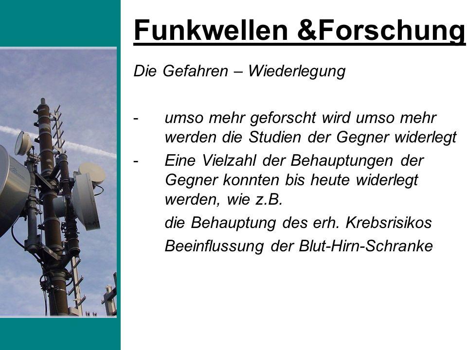 -Die größten Funkwellensender Deutschlands sind die Rundfunk- und TV-Antennen -Sie strahlen in 80 des Bundesgebietes stärker als die Mobilfunkantennen -Auch Autoverriegelungen, Funkalarmanlagen und alles kabellose strahlt Funkstrahlen aus -Was wäre nun wenn die Funkstrahlen schädlich wären .