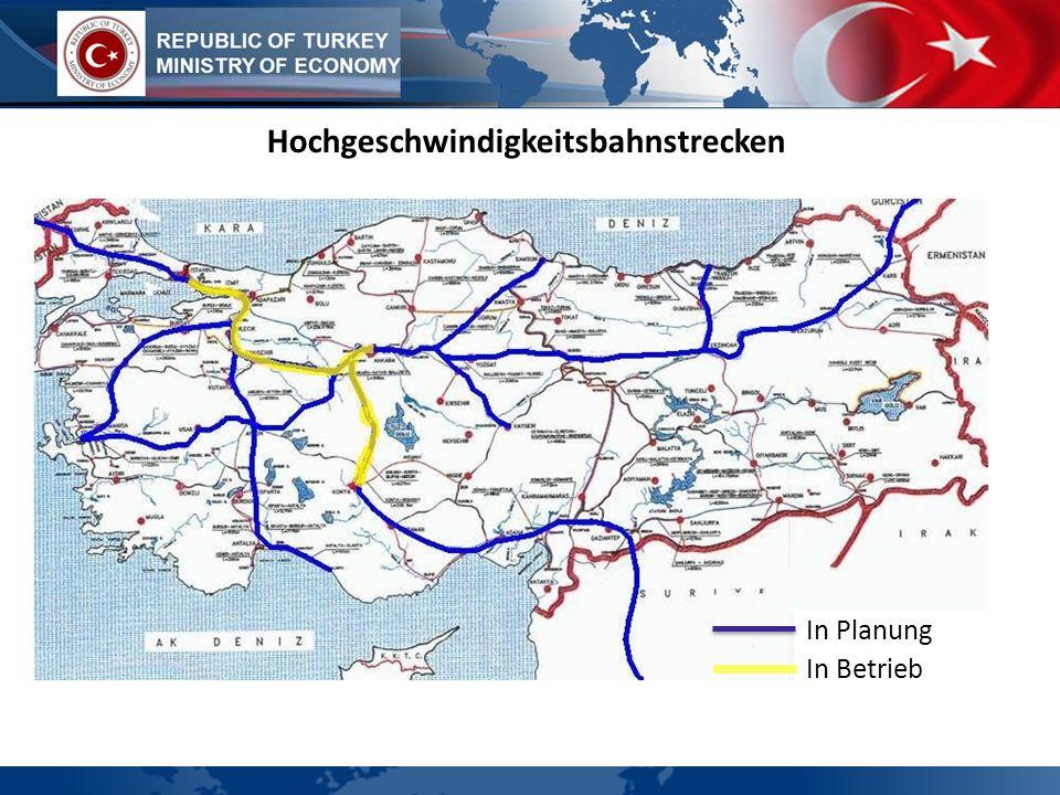 Hochgeschwindigkeitsbahnstrecken In Planung In Betrieb