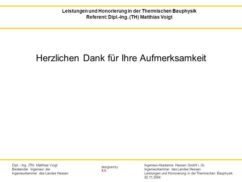 designed by S.V.Herzlichen Dank für Ihre Aufmerksamkeit Dipl.